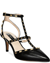 INC International Concepts Carma Pointed Toe Studded Kitten Heel Pumps Only At Macys