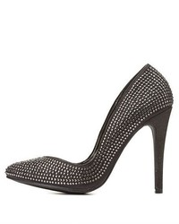 Charlotte Russe Kiss Tell Rhinestone Studded Pointed Toe Pumps