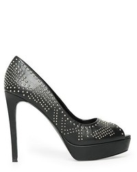 PeepToe Mango Outlet Mango Outlet Studded Peep Toe