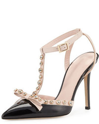 Kate Spade New York Lydia Studded Patent Pump Blackpetal Pink