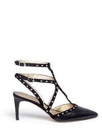 ec1519bd4e7d Women s Black Studded Leather Pumps by Sam Edelman
