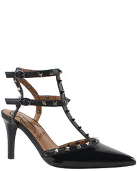 J. Renee Olyviatoo Studded Ankle Strap Pointed Toe Pumps