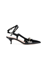 RED Valentino Red Studded Wraparound Pointed Pumps