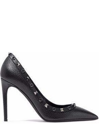 Valentino Rockstud Pebbled Leather Pumps
