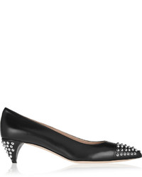 Miu Miu Studded Leather Pumps