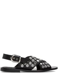 MCQ Alexander Ueen Black Studded Sundance Sandals