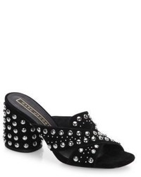 Marc Jacobs Aurora Leather Studded Crisscross Sandals