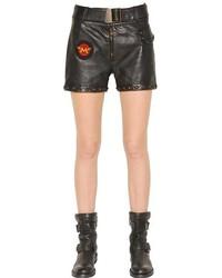 Rockers Studded Nappa Leather Shorts
