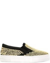 Roberto Cavalli Studded Slip On Sneakers