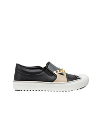 Fendi Studded Slip On Sneakers