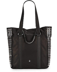 Ash Grommet Studded Leather Tote