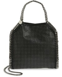 Stella McCartney Mini Falabella Studded Faux Leather Tote Black