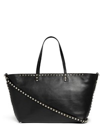 Valentino Rockstud Small Zip Shopper Tote