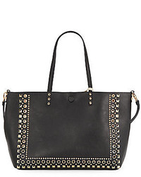 Saks Fifth Avenue Reversible Studded Faux Leather Tote
