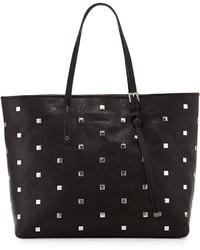 Jimmy Choo Sasha Studded Leather Tote Bag Black