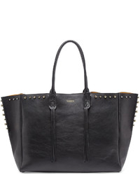 Lanvin Studded Leather Fringe Tote Bag Black