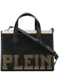 Studded plein tote medium 820930