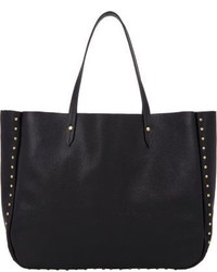 Barneys New York Studded Shopper Tote Black