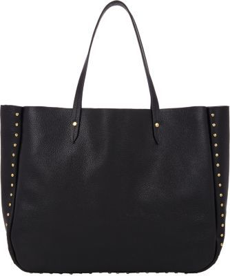 a2ad4c5c54 ... Leather Tote Bags Barneys New York Studded Shopper Tote Black ...