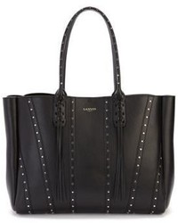 Lanvin Tasseled Studded Leather Shopper