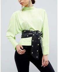 Asos 80s Leather Studded Sash Waist Belt