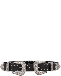 Bri bri studded waist belt in black medium 1009352