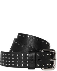 Just Cavalli 30mm Studded Grained Leather Waist Belt