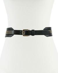 Studded faux leather waist belt medium 1009348