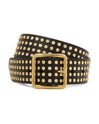 Alexander McQueen Studded Textured Leather Waist Belt