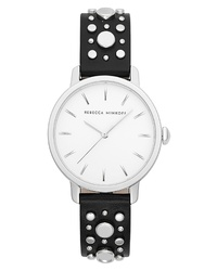 Rebecca Minkoff Bffl Studded Leather Watch