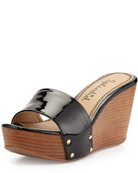 Splendid Greenville Studded Patent Wedge Sandal Black