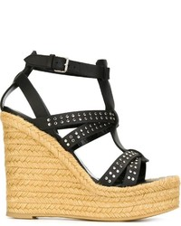 Saint Laurent Studded Wedge Sandals
