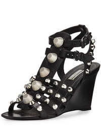 Studded caged wedge sandal medium 3749764