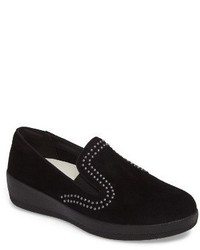 FitFlop Superskate Studded Wedge Loafer