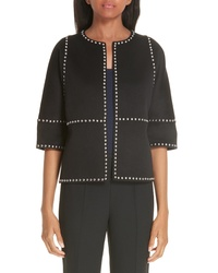 Michael Kors Cookie Studded Wool Cashgora Jacket