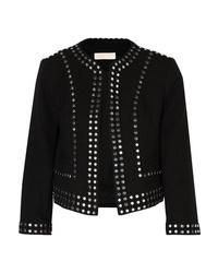 MICHAEL Michael Kors Cropped Studded Crepe Jacket