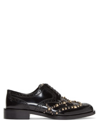 Dolce & Gabbana Dolce And Gabbana Black Studded Oxfords