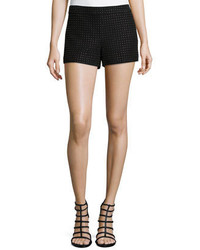Alice + Olivia Studded Suede Short Shorts