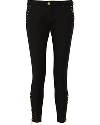 Studded stretch knit skinny pants medium 321486