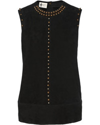 Studded suede top medium 131904