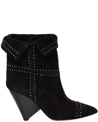 Isabel Marant 90mm Lizynn Studded Suede Ankle Boots