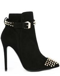 Philipp Plein Studded Ankle Boots