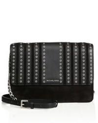MICHAEL Michael Kors Michl Michl Kors Eyelet Studded Leather Suede Mini Crossbody Bag