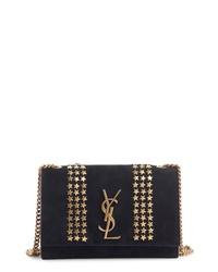 Saint Laurent Small Kate Stars Suede Crossbody Bag