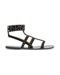 Isabel Marant J Studded Suede Sandals
