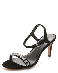 Rebecca Minkoff Beau Studded Mid Heel Sandals