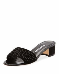 Falcopearl studded suede slide sandal medium 6727342