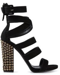 Giuseppe Zanotti Design Studded Heel Strappy Sandals
