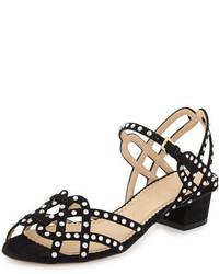 Joie de vivre studded city sandal black medium 451421