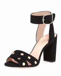 Kate Spade New York Oakwood City Studded City Sandal Black